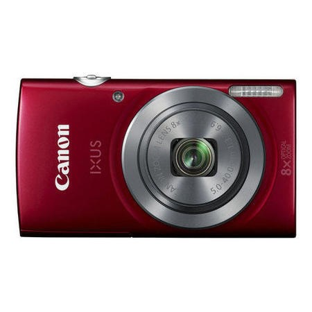 Canon IXUS 160 Red Camera Kit inc 8GB SDHC Class 10 Memory Card & Case