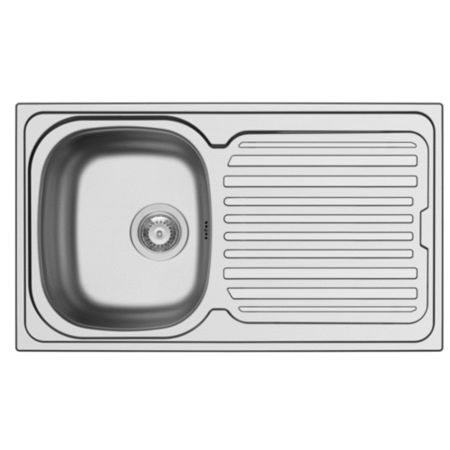 Stainless Steel Reversible Kitchen Sink 860 x 500mm - Taylor & Moore