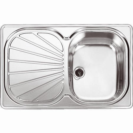 Franke EUX 611 78 Erica 1.0 Bowl Stainless Steel Sink With Reversible Drainer