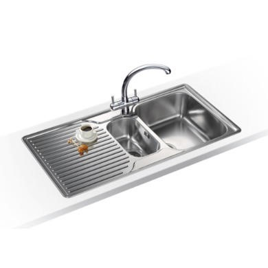 Franke ARX 651P Ariane 1.5 Bowl Right Hand Drainer Stainless Steel Sink