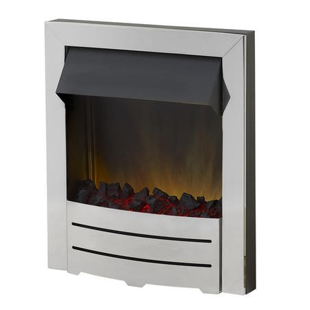 Adam Colorado Electric Fire in Chrome with a LED Flame Effect