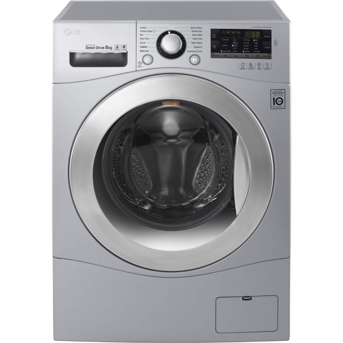 Lg Fh4a8tdn4 Direct Drive 8kg 1400rpm Freestanding Washing Machine