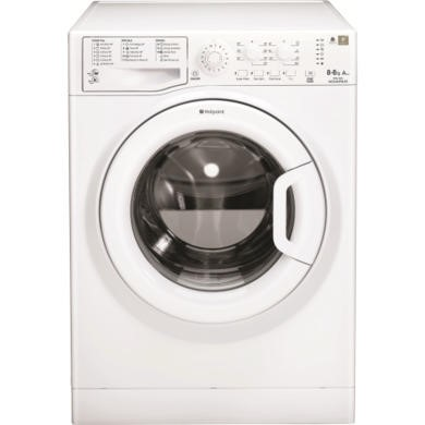 Hotpoint WDAL8640P 8kg Wash 6kg Dry Freestanding Washer Dryer-White