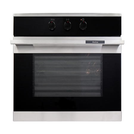 Amica 1052.3MSW 66Ltr 8 Function Single Oven - White