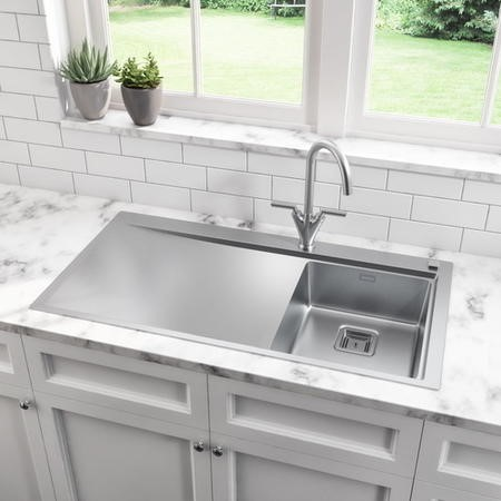 Taylor & Moore Oakley Left Handed One Bowl Kitchen Sink - 1000mm x 520mm
