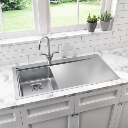 Taylor & Moore Oakley Right Handed Drainer One Bowl Kitchen Sink - 1000mm x 520mm