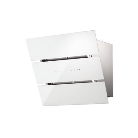 Faber Eko XS 55cm Chimney Hood - White Glass