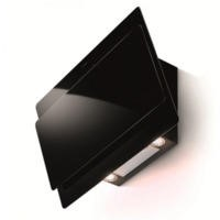 Faber Cocktail 80cm Chimney Cooker Hood Black Glass