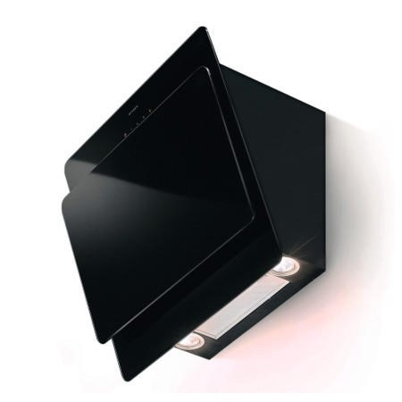 Faber Cocktail 55cm Chimney Cooker Hood Black Glass