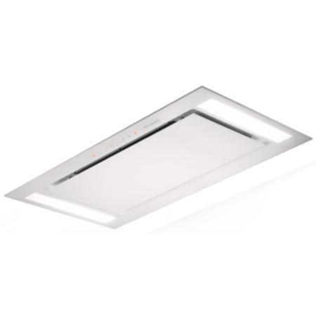 Faber Heaven Glass 100cm Ceiling Cooker Hood White