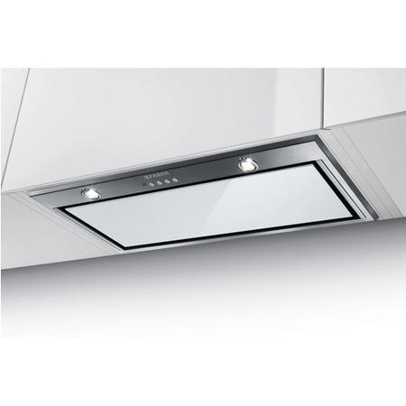 Faber Inca Lux Glass 52 -White 52 cm Canopy Cooker Hood - Stainless Steel And White Glass
