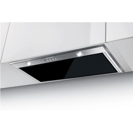 Faber Inca Lux Glass 70- Black 70 cm Canopy Cooker Hood - Stainless Steel And Black Glass