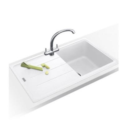 Franke BFG 611 780 Single Bowl Reversible Composite Sink - Polar White