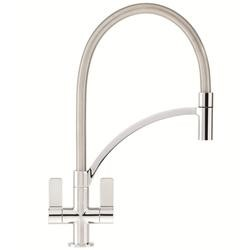 Franke Wave Twin Lever Tap With Pull Out Nozzle Chrome 115