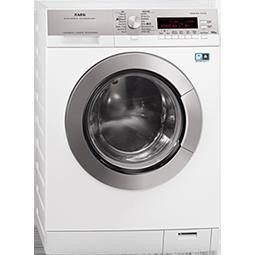 GRADE A2  - AEG L87695NWD Freestanding Washer Dryer in Stainless steel with antifingerprint
