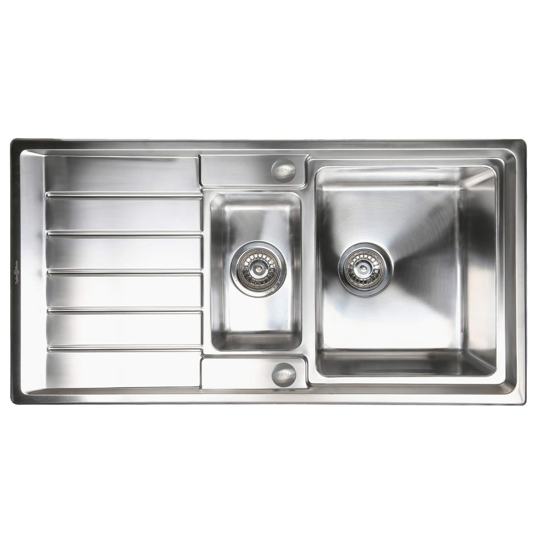 taylor u0026amp moore huron 15 bowl reversible stainless steel sink