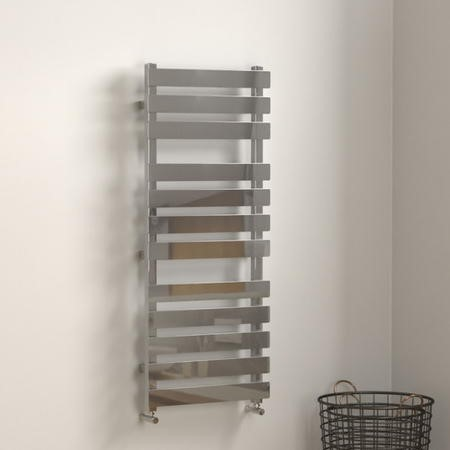 Perlo Chrome Heated Towel Rail - 1200 x 500mm