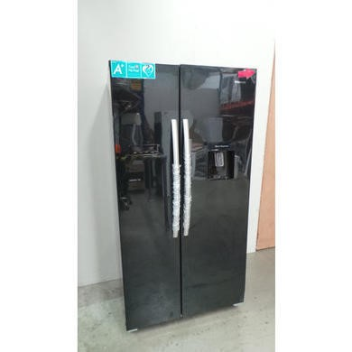 GRADE A2  - Hisense RS723N4WB1 Side By Side American Fridge Freezer With Water Dispenser Black