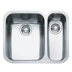 122.0154.946 Franke ARX 160-D Ariane 1.5 Bowl Undermount Stainless Steel Sink With Right Hand Small Bowl
