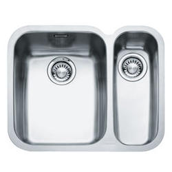 Franke ARX 160-D Ariane 1.5 Bowl Undermount Stainless Steel Sink With Right Hand Small Bowl