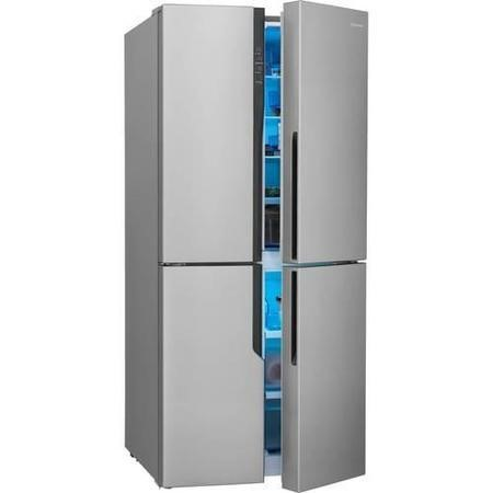 GRADE A3  - Hisense RQ562N4AC1 Frost Free 4 Door Fridge Freezer Stainless Steel Effect