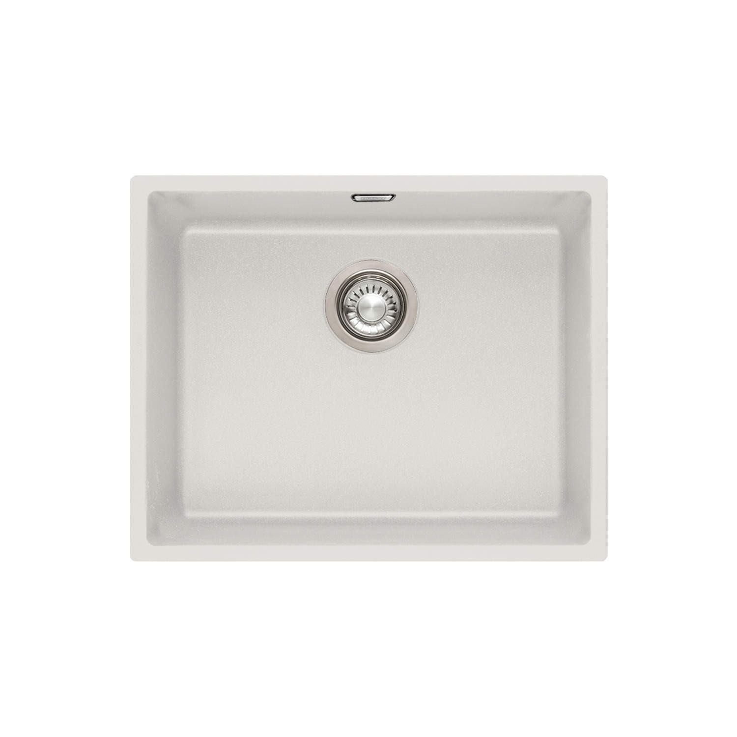 Franke SID 110 50 Sirius Large 1.0 Bowl Undermount Tectonite Composite Sink  Polar White