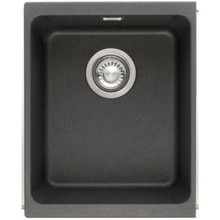 Franke SID 110 34 Sirius 1.0 Bowl Undermount Tectonite Composite Sink Carbon Black