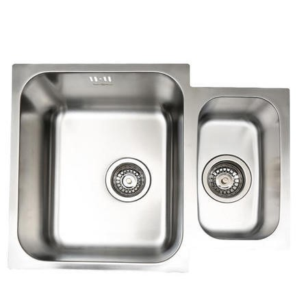 GRADE A1 - Taylor & Moore Superior 1.5 Bowl Undermount Stainless Steel Sink