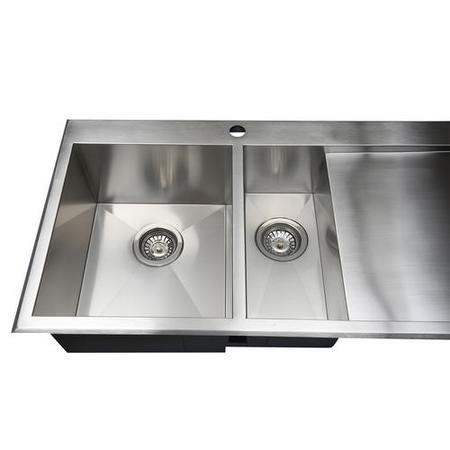GRADE A1 - Taylor & Moore GeorgeR 1.5 Bowl Right Hand Drainer Stainless Steel Sink