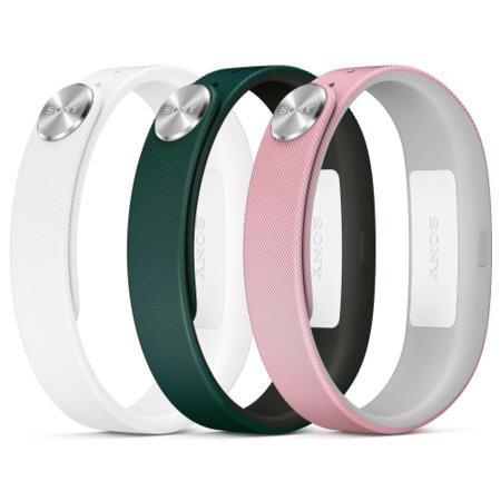 Sony Mobile Small A1 SmartBand Wrist Straps - Green/Pink/White