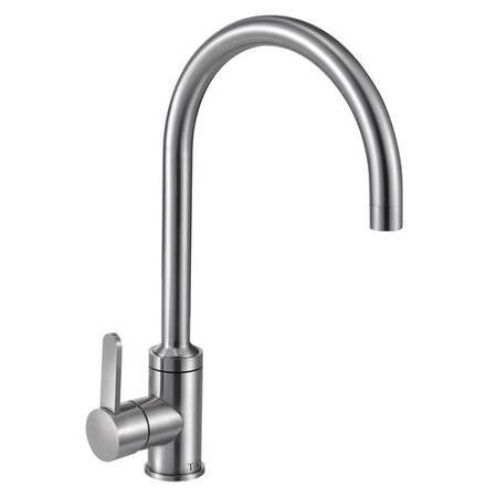 Taylor & Moore Canterbury Swan Neck Single Lever Stainless Steel Kitchen Mixer Tap