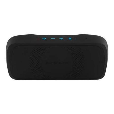 Monster SuperStar BackFloat Bluetooth Speaker - Black with Neon Blue