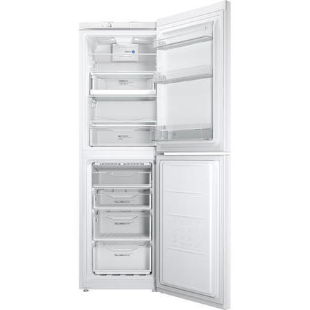 Indesit LD85F1W 189x60cm 296 Litre Freestanding Fridge Freezer Polar White