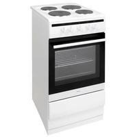 Amica 508EE1W 50cm Single Oven Electric Cooker With Solid Plate Hob - White