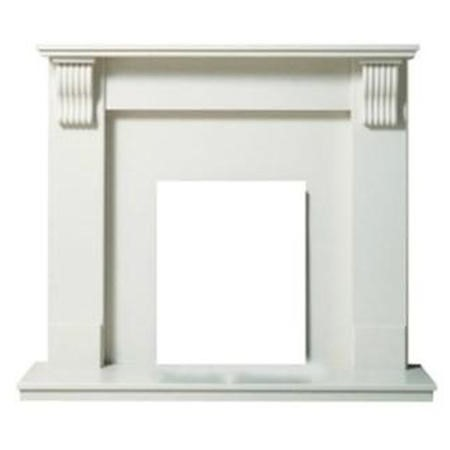 Adam Tewkesbury Marble Fireplace Surround in Sparkly White