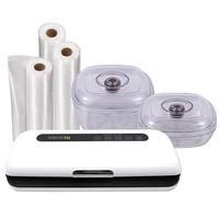 Exclusive electriQ Vacuum Sealer Pack Includes Vacuum Sealer 20cm x1000cm rolls and Containers