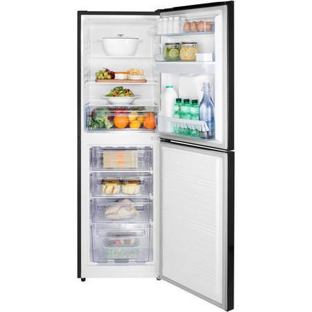 GRADE A3  - Hisense RB320D4WB1 Freestanding Fridge Freezer Black