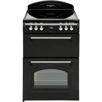 Leisure GRB6CVK Heritage Black Double Oven 60cm Electric Cooker