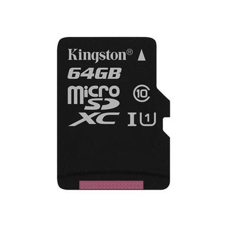 Kingston 64GB MicroSD Class 10 Card with Adapter