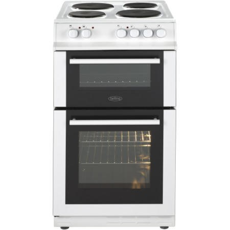 Belling FS50EFDO Double Oven Electric Cooker With Solid Plate Hob White