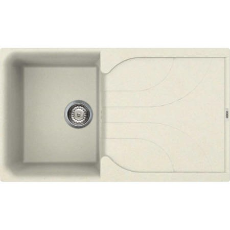 Reginox EGO400-C 1.0 Bowl Regi-Granite Composite Sink With Reversible Drainer Granitetek Cream