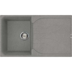 Reginox EGO400-TT 1.0 Bowl Regi-Granite Composite Sink With Reversible Drainer Metaltek Titanium Gre