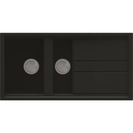 Reginox BEST475 Reversible 1.5 Bowl Black Regi-Granite Composite Sink & Astoria Chrome Tap Pack