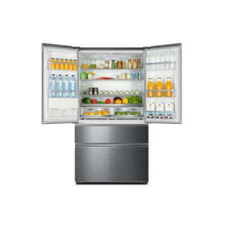 GRADE A3  - Haier HB25FWSSAAA 689L 1m Wide Frost Free American-style 4-door Fridge Freezer Stainless