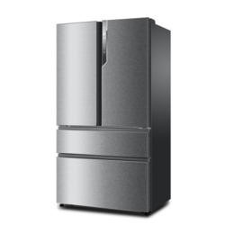 GRADE A3 - Heavy cosmetic damage - Haier HB25FWSSAAA 689L 1m Wide Frost Free American-style 4-door Fridge Freezer Stainless Steel