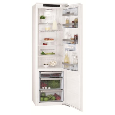 GRADE A3 - Heavy cosmetic damage - AEG SKZ81800C0 Tall Integrated Fridge With LongFresh Drawers