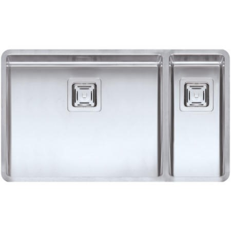 Reginox TEXAS50X40+18X40 Large 1.5 Bowl Integrated Stainless Steel Sink With Square Basket Strainer