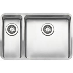 Reginox OHIO18X40+40X40-L 1.5 Bowl Integrated Stainless Steel Sink - Left Hand Small Bowl