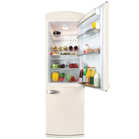 Servis C60185NFC Retro Right Hand Hinge Freestanding Fridge Freezer Cream