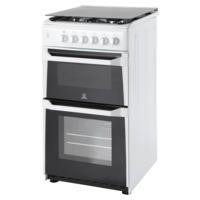 Indesit ITL50GW 50cm Double Cavity Gas Cooker White